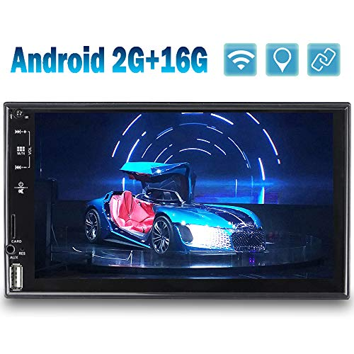[2G+16G] Autoradio Android 2 Din GPS Bluetooth CAMECHO Touchscreen da 7 Pollici USB AUX Slot per Scheda SD/TF Radio FM WIFI Link Specchio Doppia Din Auto Radio