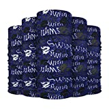 Sinifer 5pcs Seamless Face Scarf Tube Scarf Multifunctional Magic Scarf Headwear Motorcycle Ski Windproof Breathable Mouth Guard Neckerchief(D)