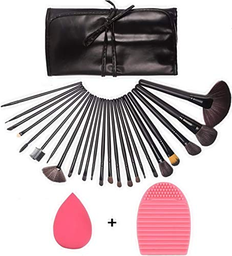 GUSODOR Make Up Pinsel Set, Professionelles Kosmetikpinsel Foundation Make-up Brush mit Schwamm,...