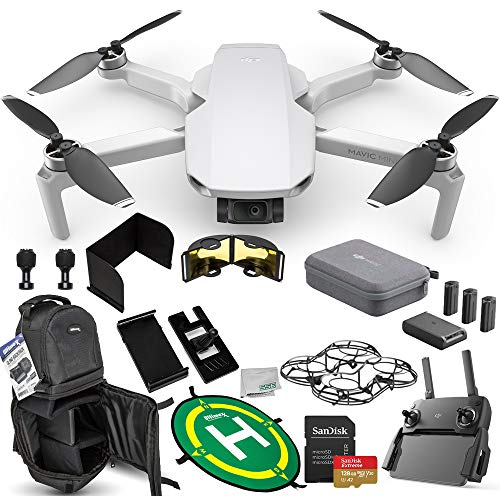 DJI Mavic Mini Portable Drone Quadcopter Fly More Combo Ultimate 128GB Bundle - CP.MA.00000123.01