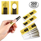 Yosemy 300pcs Ongles Forme pour Acrylique UV Gel Nail Art Conseils Extension Stickers