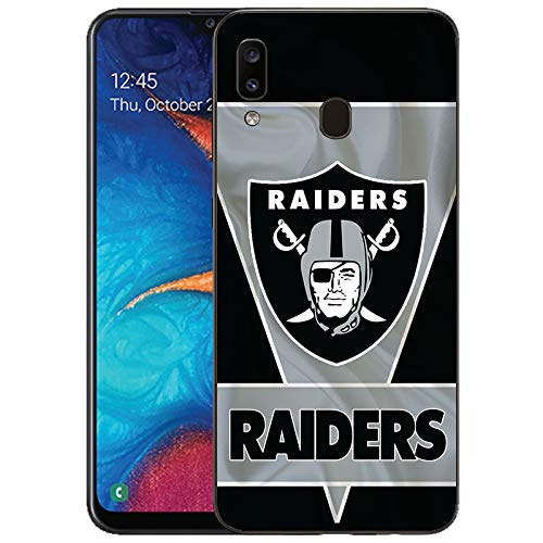 Designed for Samsung Galaxy A20/Samsung Galaxy A30 Case, Matte Black Cellphone,Football Phone Case, TPU Full Body Protection Shockproof Cover Protection Cover Drop Protection Shell-S193