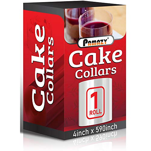 Cake Collars 4 x 591inch, 150micron Thickness Cake Film Transparent, Acetate Sheets for Baking, Best Choice for Decorating Mousse, Chocolate, Pastry and Making Other Cakes