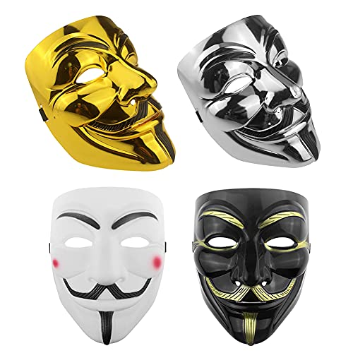 AYEUPZ Máscara de Halloween de Vendetta para disfraz de Halloween o cosplay