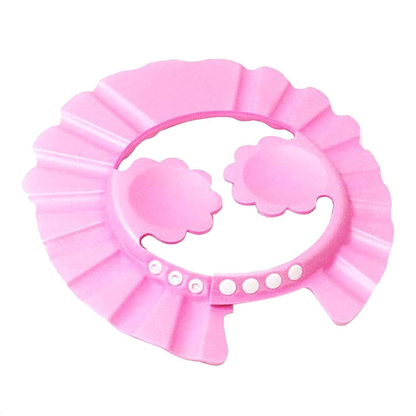 プレミア本土意志OUNONA シャワーキャップ 子供 お風呂キャップ ベビー バスキャップ 調節でき かわいい 眼と耳保護