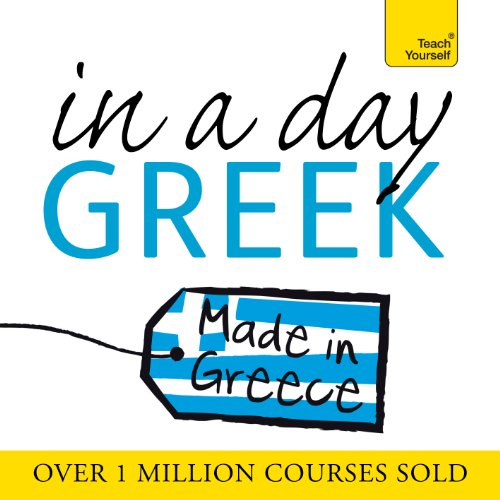 Greek in a Day audiobook cover art