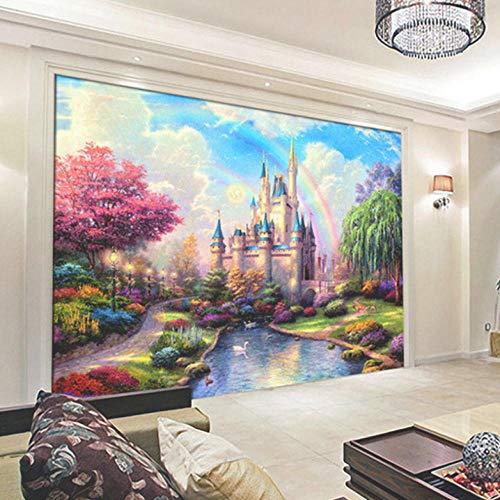 Fototapete 3D 300X210Cm Fantasy Schloss Eingang Tapete Fototapeten Vlies Tapeten Vliestapete Wandtapete Moderne Wandbild Wand Schlafzimmer Wohnzimmer