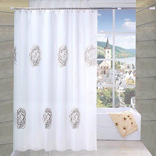 Rideaux de douche Rideau de douche imperméable à l'eau et de rouille Rideaux de salle de bains rembourrés Rideau de cloison-A 150x200cm(59x79inch)