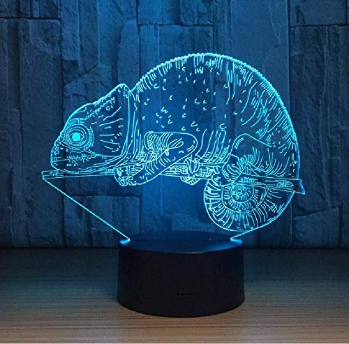 20 Farbwechsel Chamäleon 3D Illusion Nachtlicht Für Kinder Geschenk Usb-Basis Visuelle Licht Schreibtischlampe Weihnachtsbeleuchtung Smartphone Bluetooth-Steuerung
