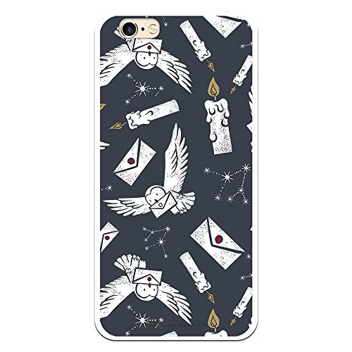 Funda para iPhone 6-6S Oficial de Harry Potter Lechuzas Siluetas para Proteger tu móvil. Carcasa para Apple de Silicona Flexible con Licencia Oficial de Harry Potter.