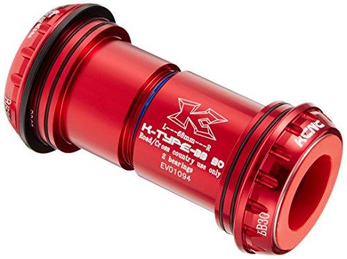 Adaptador Pedalier KCNC BB30 a BB24 Road Rojo