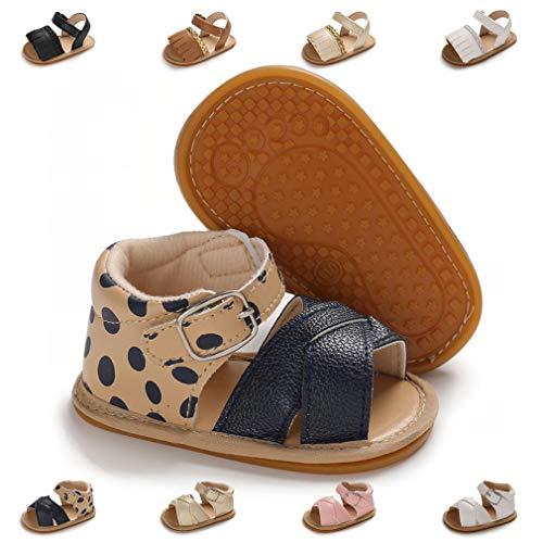 Infant Baby Girls Sandals Anti-Slip Rubber Sole Toddler First Walker Prewalker Newborn Summer Shoes for Baby Girls(0-6 Months Infant,1-Blue)