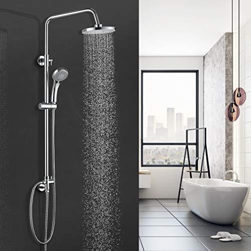 BONADE Duschsystem Regendusche Duschsäule ohne Armatur Handbrause mit 3 Strahlarten Kupfer Duschset mit Wandhalterung Duschkopf für Bad Badewanne, Höhenverstellbar 90-120 cm