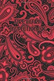 FIRE ALARM INSPECTION LOG: Paisley Dark Red / Black Cover- Logbook Journal for Fire Safety Register, Project Quality and Maintenance Inspection - ... for Engineers, Inspectors and Smart Employees