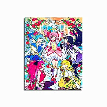 WUTONG Anime Poster Wall Art Set Anime Puella Magi Madoka Magica 8X10 Inches Canvas Art Print Poster HD Printed Posters for Room for Bathroom Decor Teen Boy Room Decor Wall Decor Home Decor Unframed