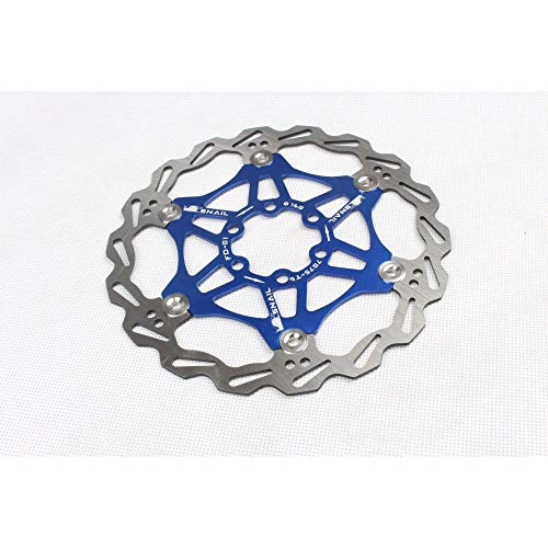 SZMYLED Mountain Bikes Rotors Floating Disc Brake Rotors 160MM/180MM/203MM Bike Brake Disc Rotor MTB Stainless Steel with Screws Blue 203MM boxed