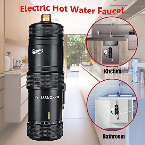 SUQIAOQIAO 3400W Mini Instantanea Calentador De Agua Electrico, Sistema De Calentador De Agua Electrico Inteligente De La Temperatura Constante, para Grifo De Ducha De Bano Cocina