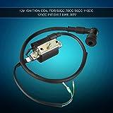 Bobina de chispa negra, bobina de encendido, arranque de motor de metal + plástico de 12 V para Pit Dirt Bike 50cc 70cc 90cc 110cc 125cc