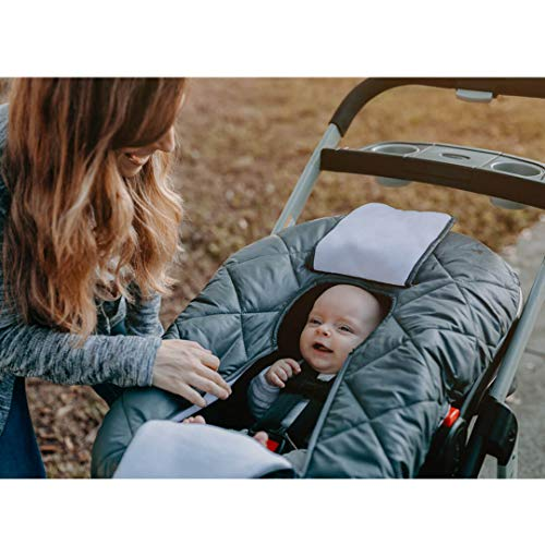 Cozy Cover Premium Infant Car Seat Cover (Black) with Polar Fleece - The Industry Leading Infant Carrier Cover Trusted by Over 6 Million Moms for Keeping Your Baby Warm