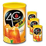 4C Powdered Drink Mix Cannisters | Family Sized Cannister | Thirst Quenching Flavors | 20-28 quarts (Lemon Iced Tea, 3pk)
