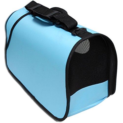 Kleintier Tasche Transporttasche Box Katze Hund Kaninchen ca. 45x25x23cm blau - 3