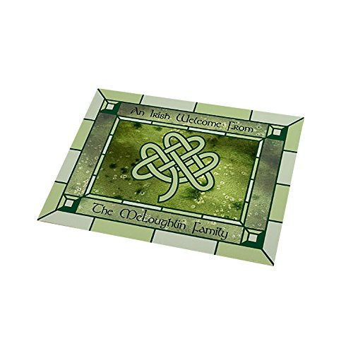 GiftsForYouNow Personalized Irish Celtic Knot 18x24 Doormat, St. Patrick's Day, Fleece Material, Indoor/Outdoor