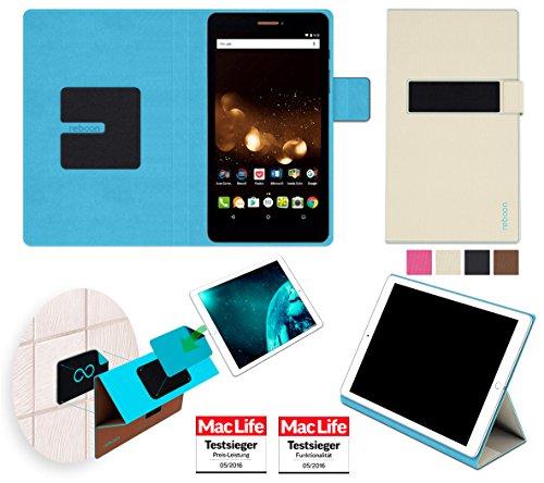 reboon Hülle für Acer Iconia Talk S Tasche Cover Case Bumper   in Beige   Testsieger