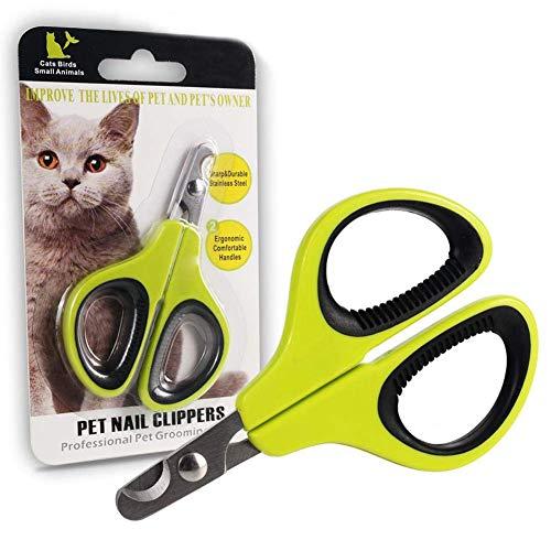 N /A Cat Dog Nail Clippers Portable Professional Nail Pinces Cutters pour Animaux de Compagnie en Acier Inoxydable Toe Ciseaux Pet Toilettage Tool 10 pcs Cats-Green
