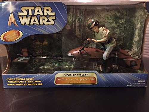 Star Wars Princess Leia on Speeder Bike 12 Figure by Hasbro