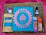 Custom Kits Set de caja de regalo para relajación, para mujer, para masajes, sales de baño, barra de proteínas y gelatinas, L