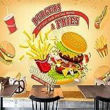 Carta da parati non tessuta patatine fritte di pollo kfc fast food panetteria tessuto murale non tessuto di grandi dimensioni Carta Da Parati moderna 3D Fotomurali spiaggia-430cm×300cm