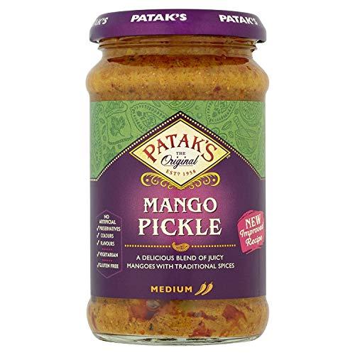 Patak's Hot Mango Pickle - Scharf eingelegte Mango - 2 x 283 g