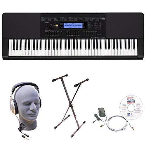 Casio WK-245 EPA 76-Key EPA Premium Keyboard Package with Headphones, Stand, Power Supply, 6-Foot USB Cable and eMedia Instructional Software