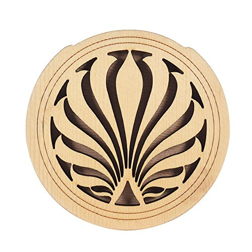 ammoon Guitar Wooden Soundhole Sound Hole Cover Block Feedback Buffer Spruce Wood for EQ Acoustic Folk Guitars