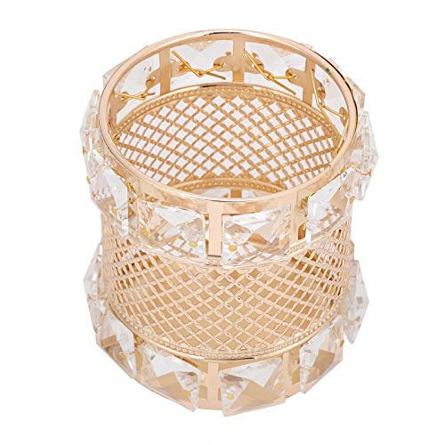 DSED Soporte para brochas de Maquillaje-Metal Cristal Brocha para Maquillaje Soporte para...