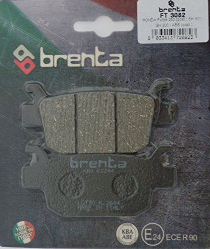 Brenta Plaquettes de Frein Moto organique pour Honda MB, Silver Wing, RS R, Kawasaki, Suzuki