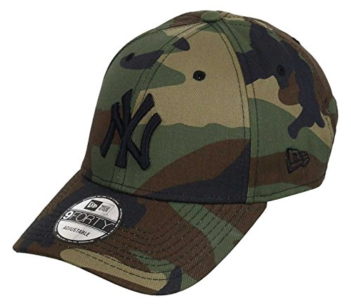 New Era New York Yankees 9forty Adjustable Kids Cap League Essential Woodland Camo - Youth