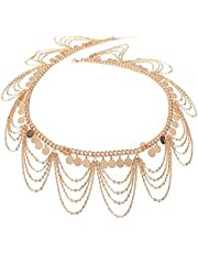 Cyruss Ethnic Style Jewelry Retro Gold Punk Belly Dance Body Necklace Belly Chain