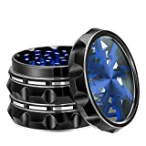 "VIVOSUN 2.5"" 4 Pieces Clear Top Grinder Aluminium Grinder with Pollen Scraper Blue"