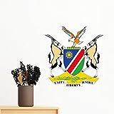 DIYthinker Die Republik Namibia-Flagge National Emblem Afrika Land entfernbarer Wand-Aufkleber-Kunst-Abziehbilder Wand-DIY Tapete Für Zimmer Aufkleber 80Cm