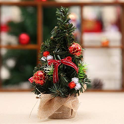 Easyeeasy Adorno de mesa de árbol de Navidad Mini árboles artificiales de vacaciones Suministros de decoración navideña para la tienda del hogar