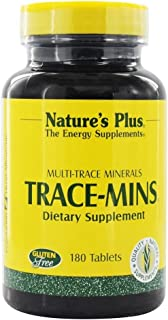 NaturesPlus Trace-Mins - 180 Vegetarian Tablets - Multi-Trace Minerals Supplement with Chromium, Iodine, Magnesium, Mangan...