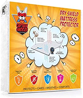 CAPTAIN SNOOZE Premium 100% Waterproof and Vinyl Free Mattress Protector, King Size Fitted with a Cotton Terry Cover, Upto 18 inches deep Pocket