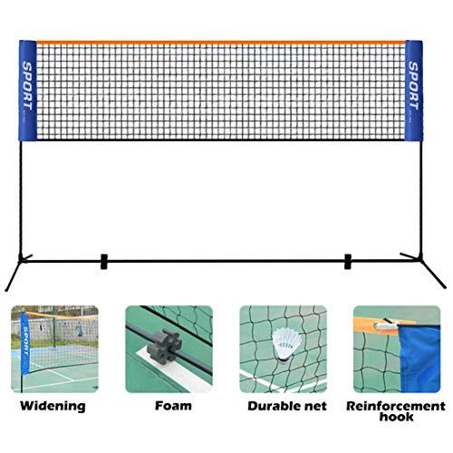 Yinguo Portable Badminton Net with Poles, 10 Feet Adjustable Height Freestanding Badminton Volleyball Tennis Net for Indoor Outdoor Garden Backyard Schoolyard with Stand/Frame Carry Bag, Easy Set Up