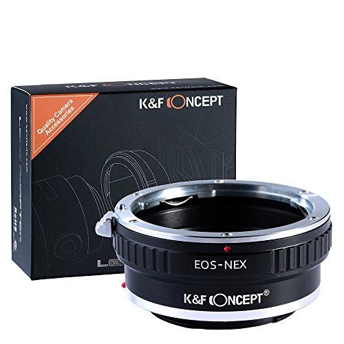 K&F Concept EOS-NEX Adapter Objektivadapter für Canon EOS an Sony Adapter Ring (Keine elektronische Verbindung) für Canon EOS EF Objektiv auf Sony Alpha E-Mount Systemkamera