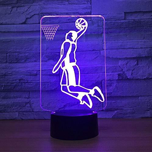 Slam Dunk Play Basketball 3D Led Lamp Lighting 7 Color Change Sport 3D Night Light Home Room Decoration Best Friends Child Gift