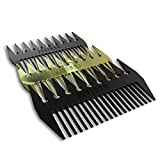 Jovinno Hair Styling Metal Hair & Beard Comb Premium Quality Luxury Dual-Sided Wide + Fine Tooth Designed To Promote A Unique Hair Contour … (Silver Grey Metal)