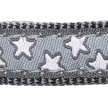 Red Dingo Collier Chats Gris Étoiles Blanches pour Chat 1 Unité
