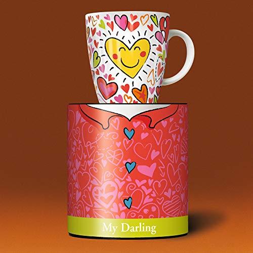 Ritzenhoff My Darling Kaffeebecher, Porzellan, Bunt, 0.1 cm