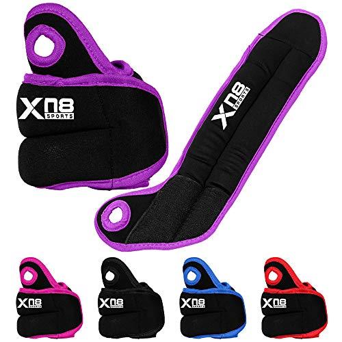 Xn8 Gewichtsmanschetten 0.5kg - Laufgewichte für Fuß- und Handgelenke Gewichte in 2 Farbvarianten